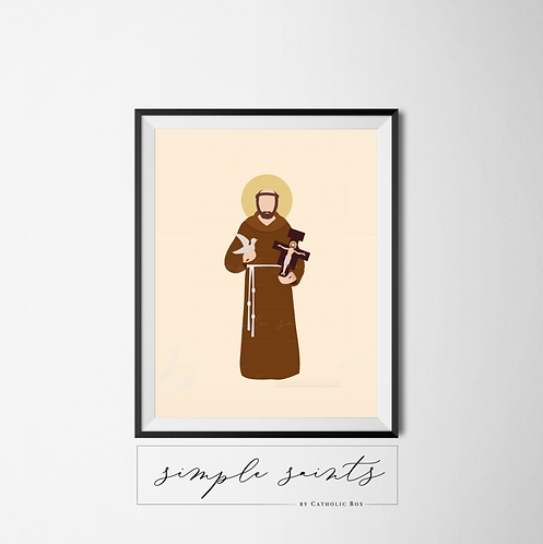 St. Francis of Assisi (with Cross)
