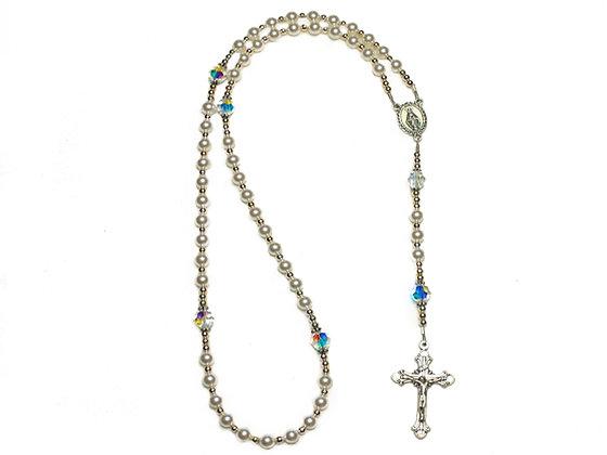 Pearl Swarovksi Rosary