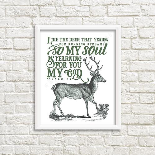 Psalm 42 Deer -