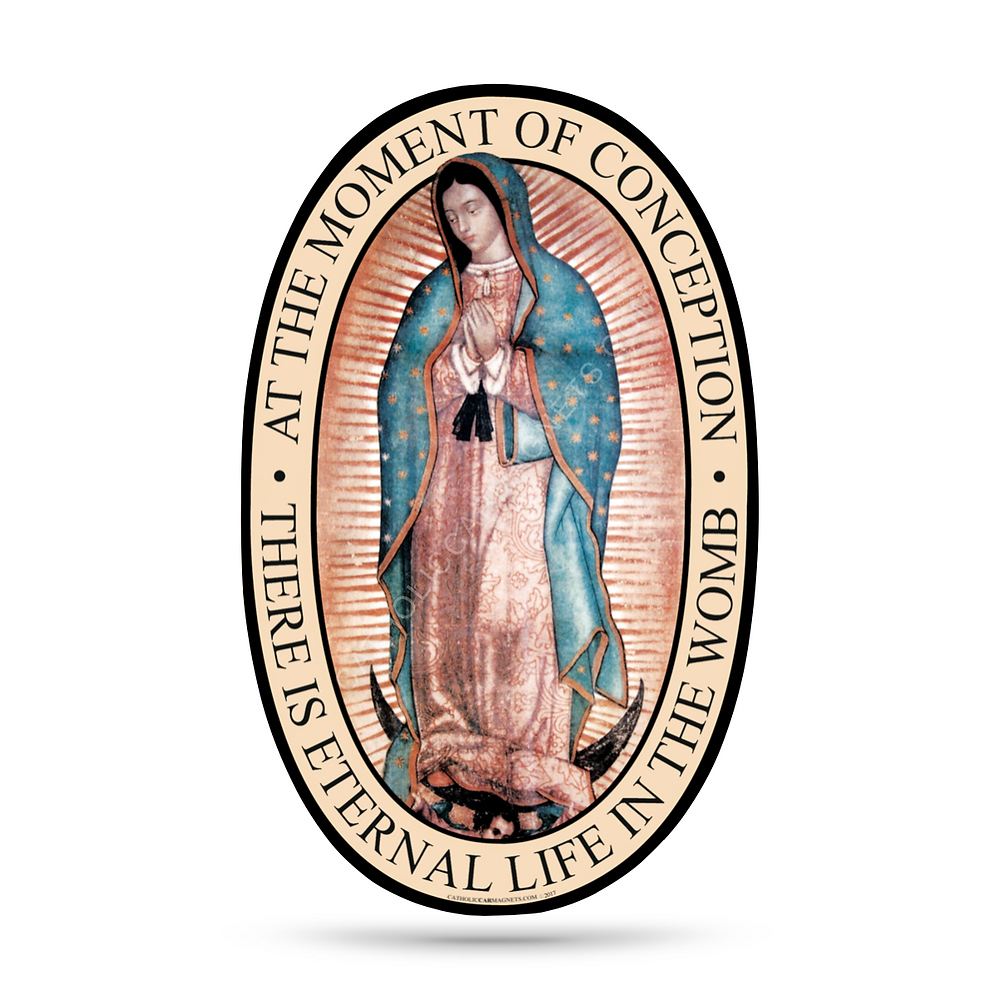 Our Lady of Guadalupe Catholic Car Magnet