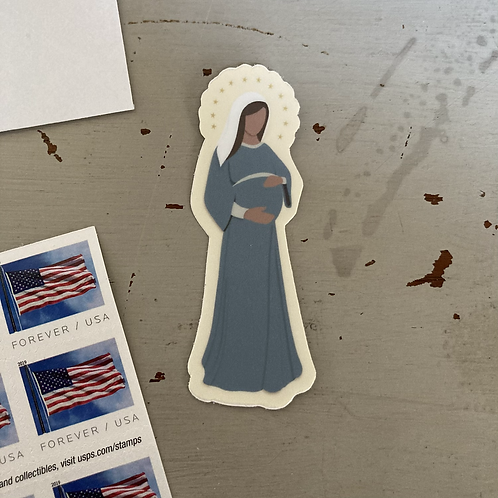 Mary with Child Sticker