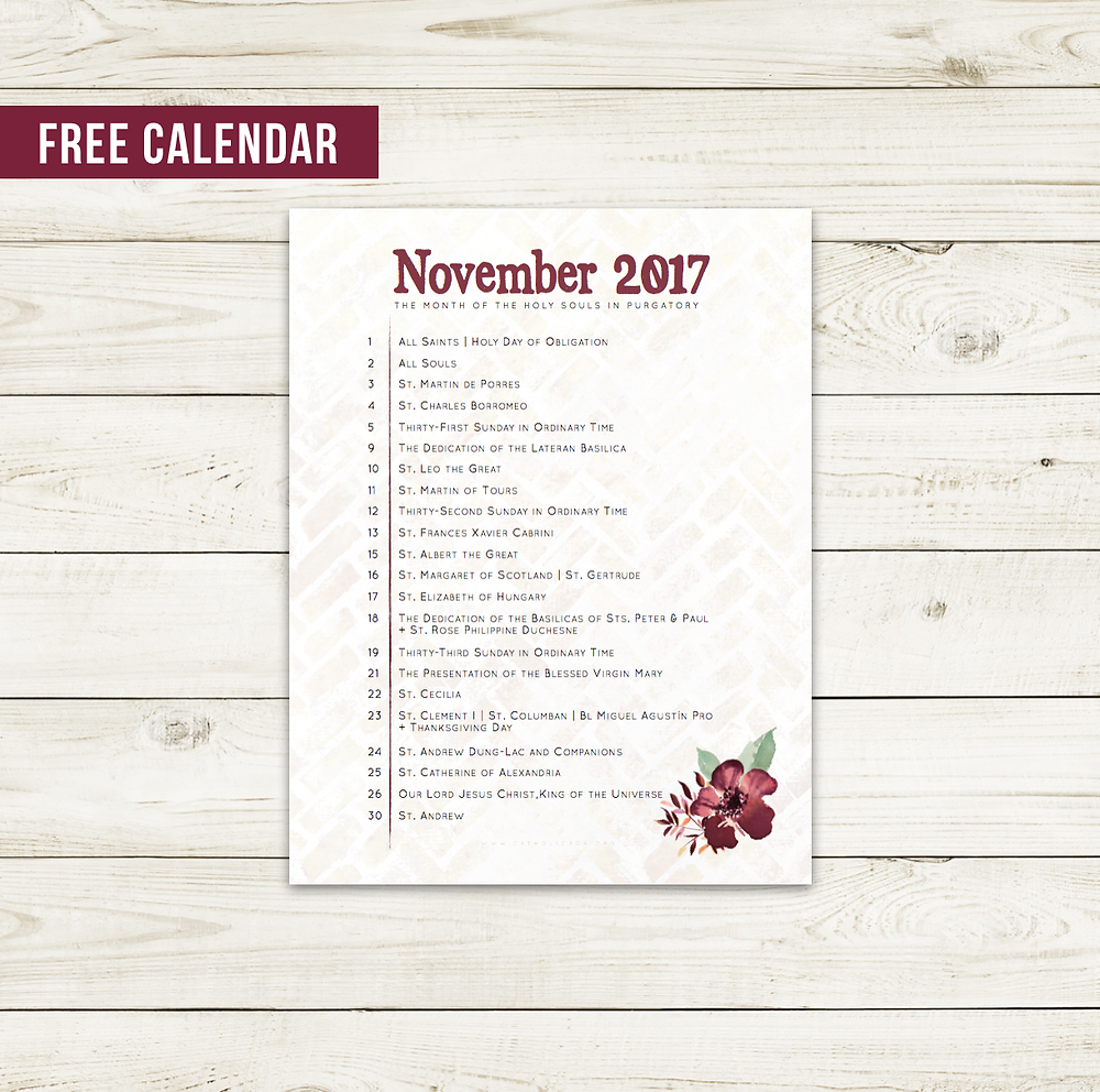 May Liturgical Calendar Catholic Box