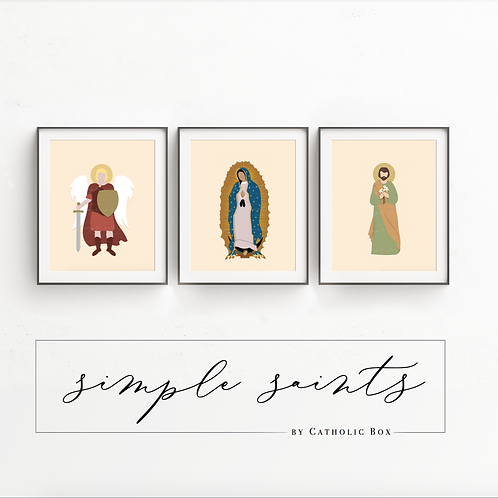 Set of 3 Simple Saints