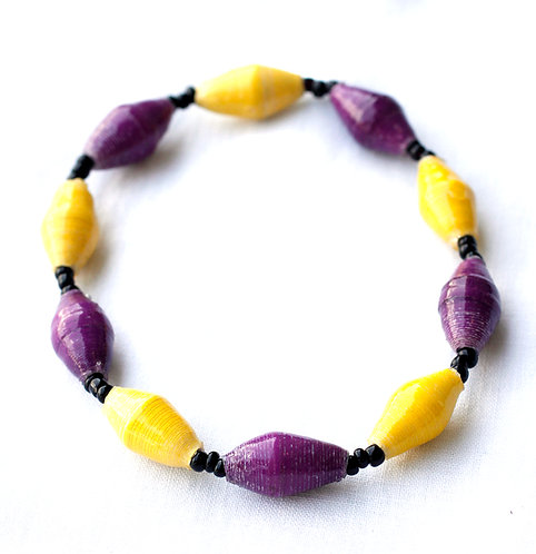Purple & Gold Bracelet