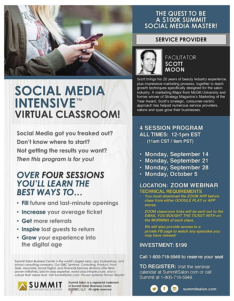 FLYER- Social Media Intensive VIrtual -