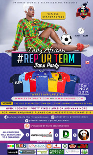 #RepUrTeam Fans Party Tickets now available