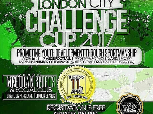 Pathway Sports are proud to once again present The London City Challenge Cup! LCCC 2017!!!