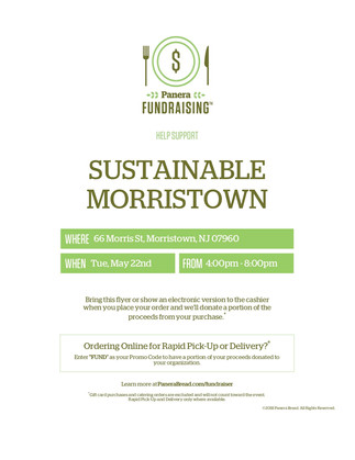 Help Support Us By Eating at Panera Bread on 5/22
