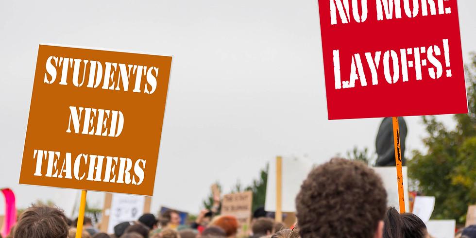 Stop Chopping Jobs NAU, Demonstration