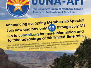 Announcing our Spring Membership Special! Join UUNA for only $5 through July 2021!