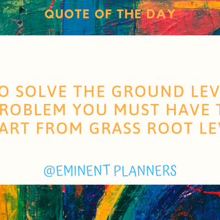 tO SOLVE THE gROUND lEVEL pROBLEM YOU MU