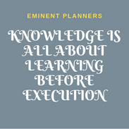 KNOWLEDGE IS ALL ABOUT LEARNING BEFORE E