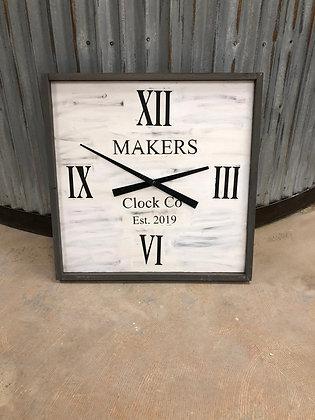 """Square Clock or Round 24"""""""