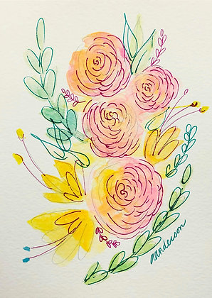 Spring Water Color Class