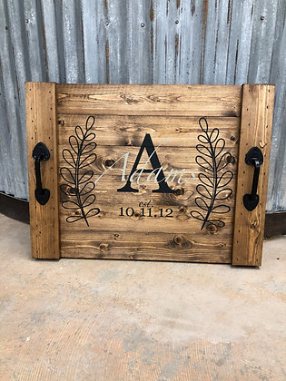 RUSTIC STOVE COVER