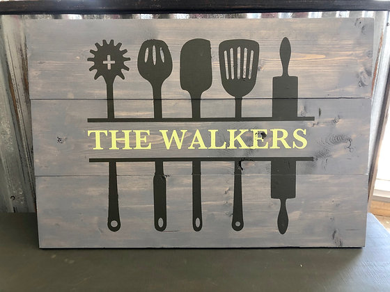Kitchen Workshop Pallet Sign