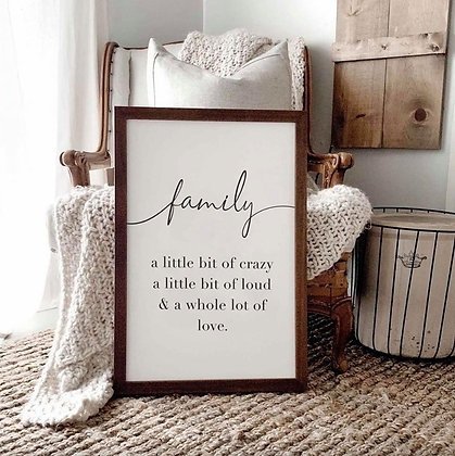 """""""FAMILY"""" SIGN"""
