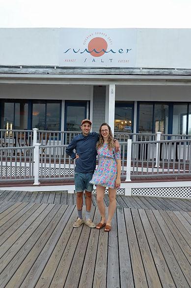 Chef Connor Dore, and farmer Heather Sedlacek at Summer Salt in Avalon