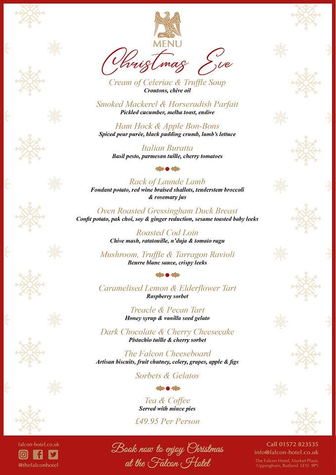 Christmas Eve Menu - Falcon Hotel