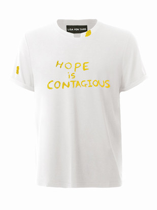 Hope Is Contagious T-Shirt in Yellow