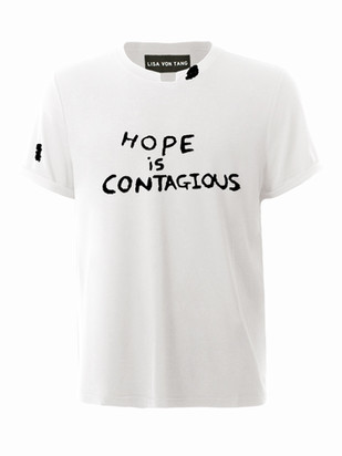 Hope Is Contagious T-Shirt in Black