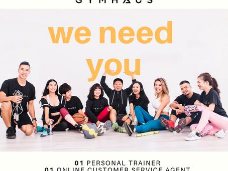 GymHaus tuyển HLV cá nhân và Chăm sóc khách hàng