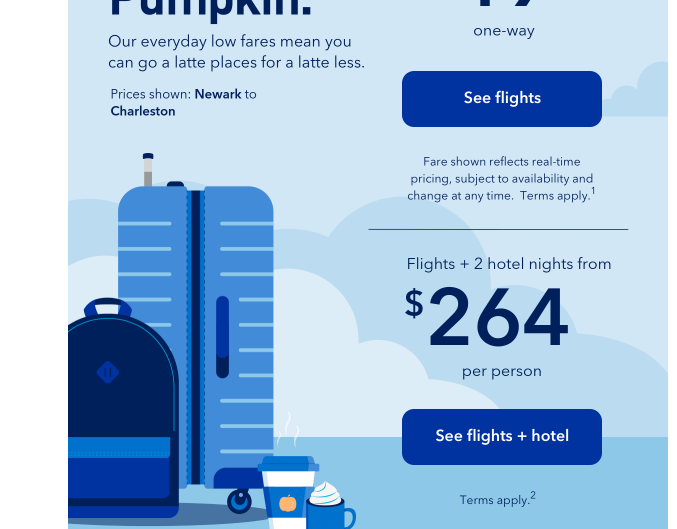 JetBlue Sale with fares as low as $33, point value redemption up to $.019/pt, & up to 70% off.