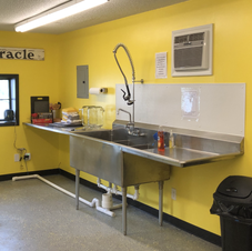 Three Hole Sink in Caterers Kitchen