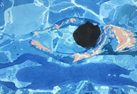 COD FG0249, franco giordano nell'acqua 2005 acquerello su carta 75x55