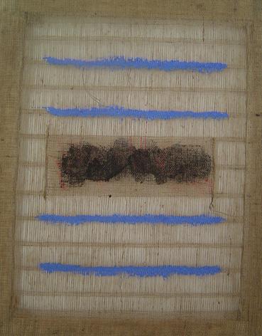 Salvatore Emblema terre su tela di Juta cm 80x100 Rif. 136