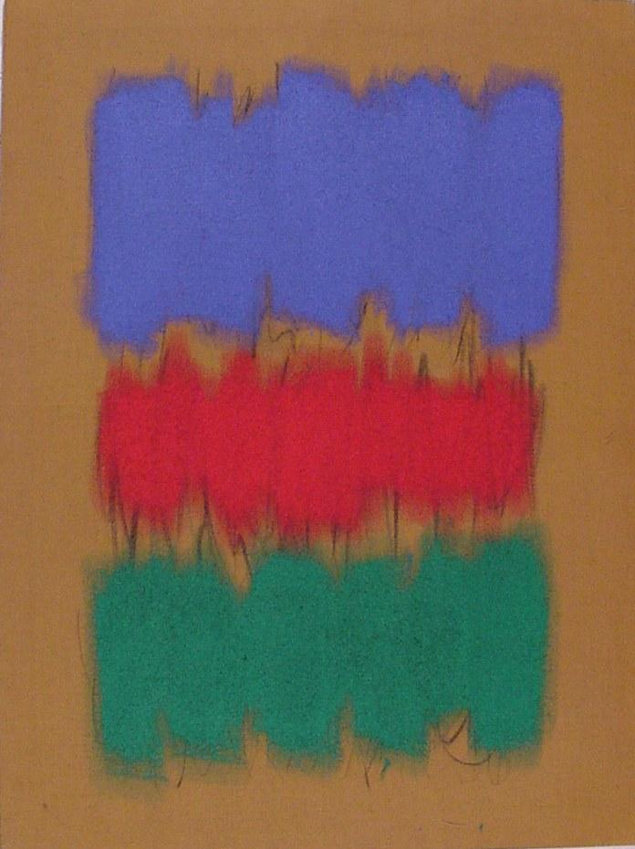 Salvatore Emblema, 1979, terre colorate su tela di juta, cm 200x150