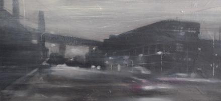 COD AB0530, Angelo Bellobono, dumbo, cm 50x100, acrilico su tela, 2006