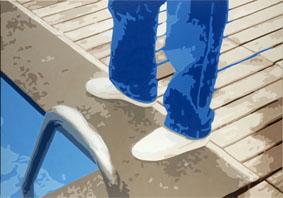 COD FG0254,franco giordanospecchio blu 2004 acrilico su tela 70x100