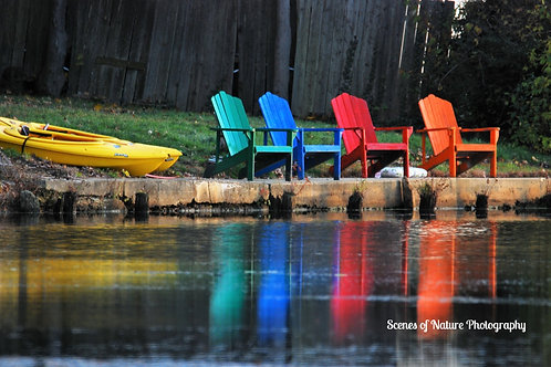 Adirondack Chairs & Kayak Rainbow - Spotswood, NJ