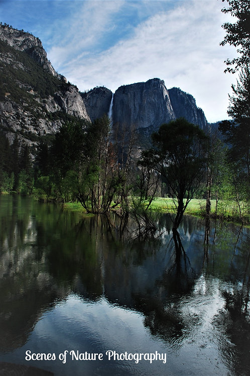 Yosemite Falls Reflection, Yosemite National Park, CA