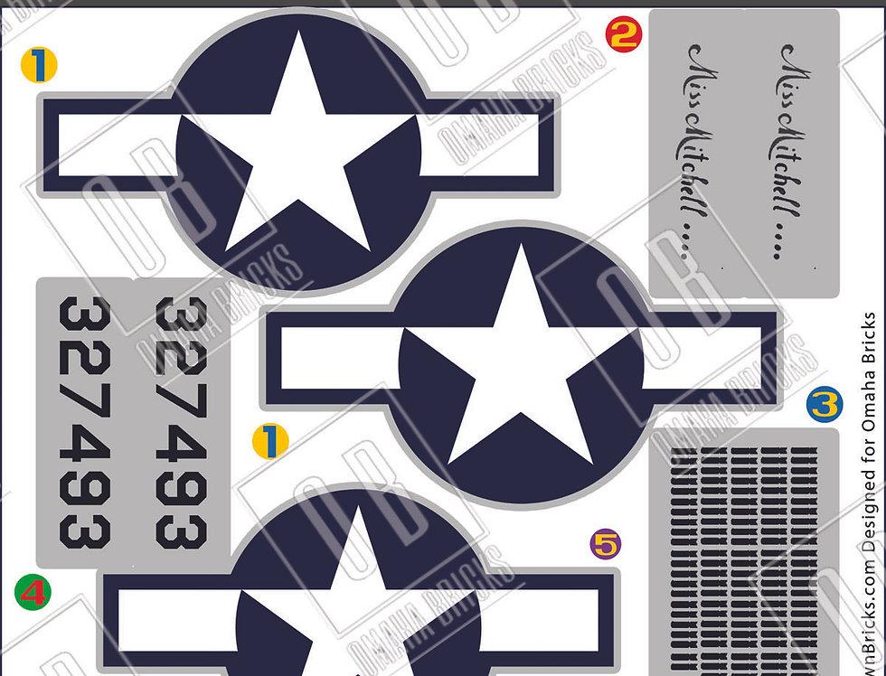 OB B-25J  Mitchell Sticker pack