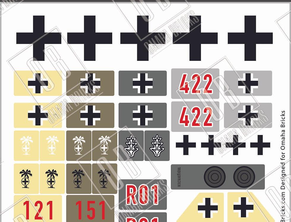 OB German Panzers Sticker Pack