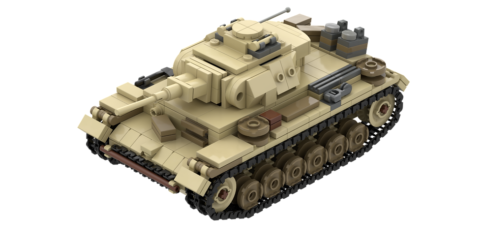 Panzer III desert camo instructions