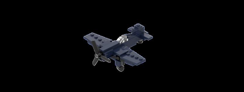 Battlin' Bricks F4U Corsair Instructions (Quad Pack)