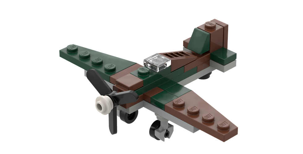 Battlin' Bricks Hawker Hurricane Instructions