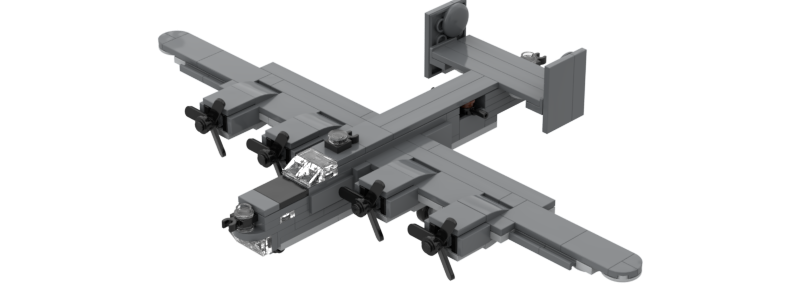 Battlin Bricks B-24J Liberator Instructions (Duo Pack)
