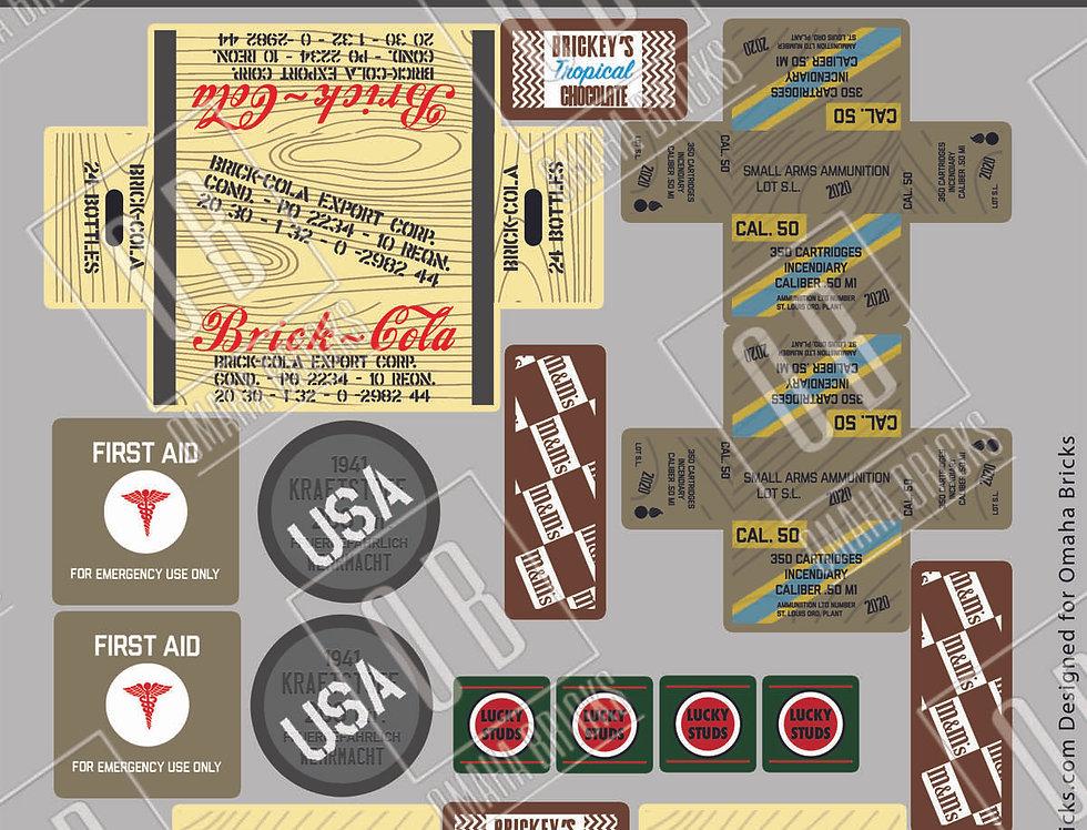 OB US Crates and Barrels Sticker Pack