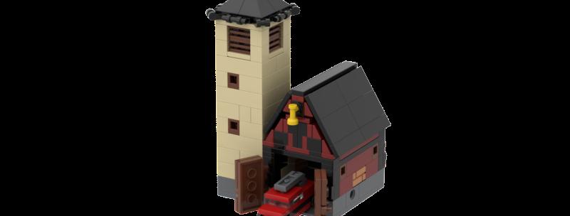 Battlin'Bricks City Fire Fighters HQ Instructions