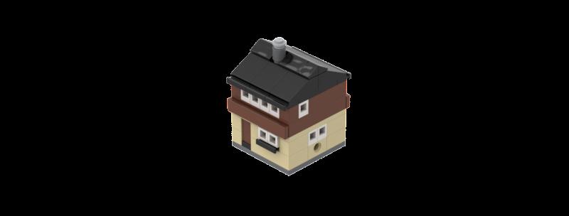 Battlin' Bricks City European House V1 Instructions