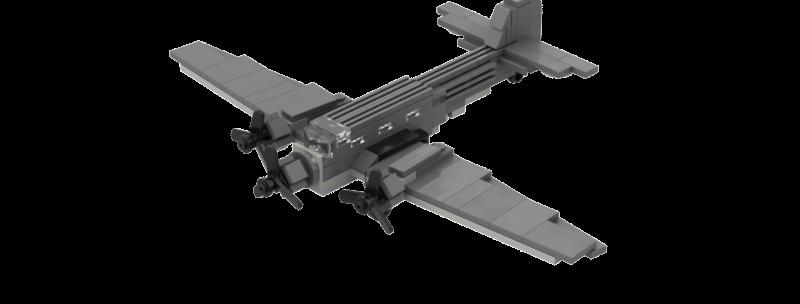 Battlin' Bricks Ju-52 Instructions