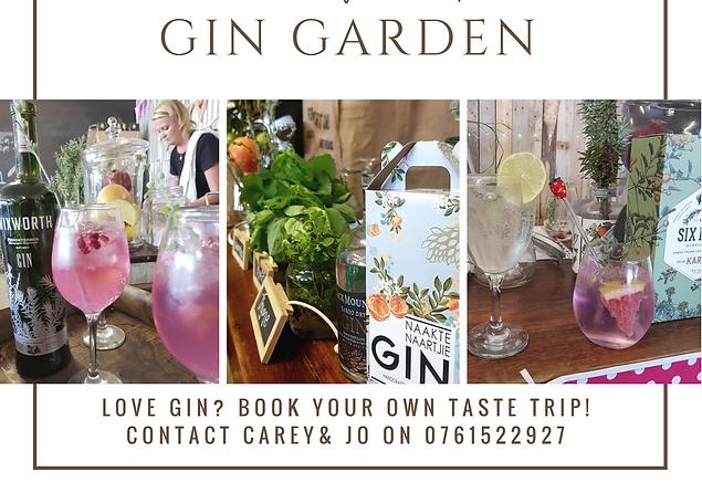 Cocktail popup bar, gin garden in Eastern Cape