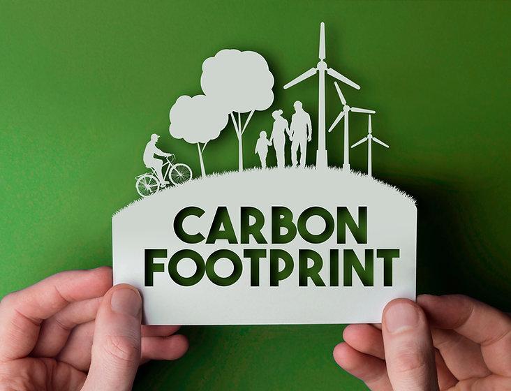 Carbon footprint - green environmental p