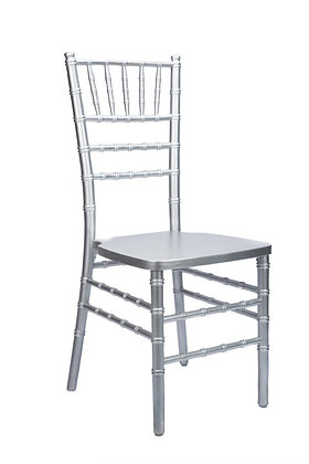 Silver Stackable Wood Chiavari Chair