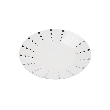 Dotted Silver Salad Plate