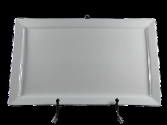"""10.75"""" X 17.75"""" White Platter"""